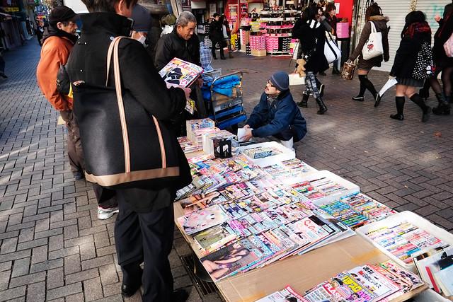 Porn magazine vendor, Shinjuku