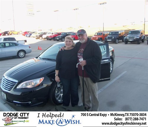 Congratulations to Sheila Lovelace on the 2013 Chrysler 200 by Dodge City McKinney Texas