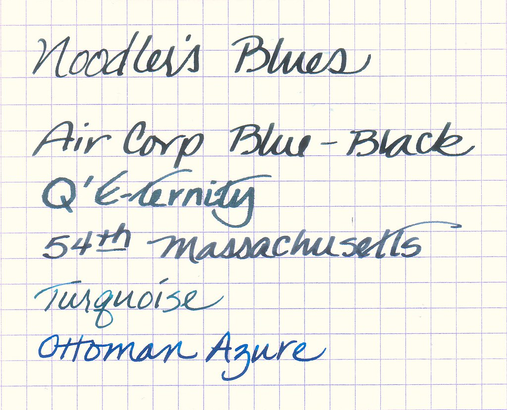 Noodler's Blues - A Comparison