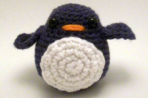 Dark Blue Amigurumi Penguin