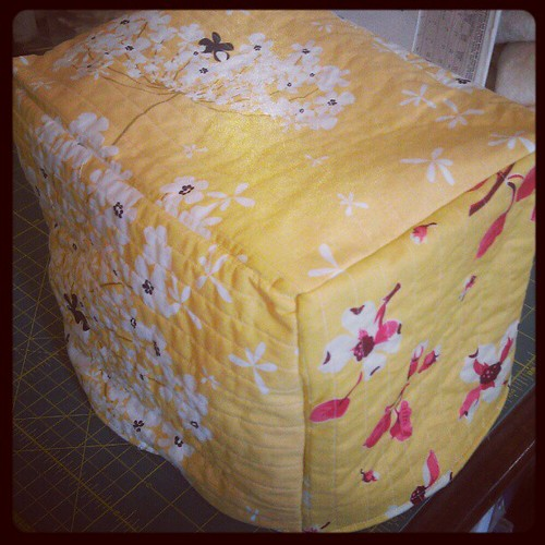 Mom requested a yellow toaster cover