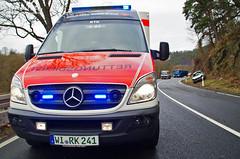Verkehrsunfall B54 Hettenhain 02.01.13