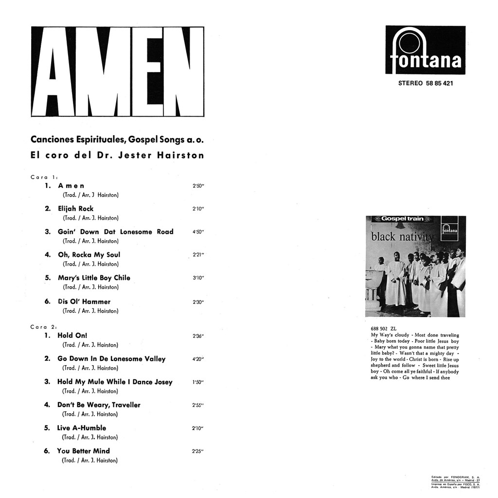 Jester Hairston - Amen