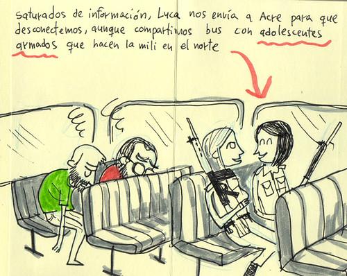 Palestine Sketchbook #25 - Bus to Acre