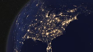 Earth at Night, North America [hd video]