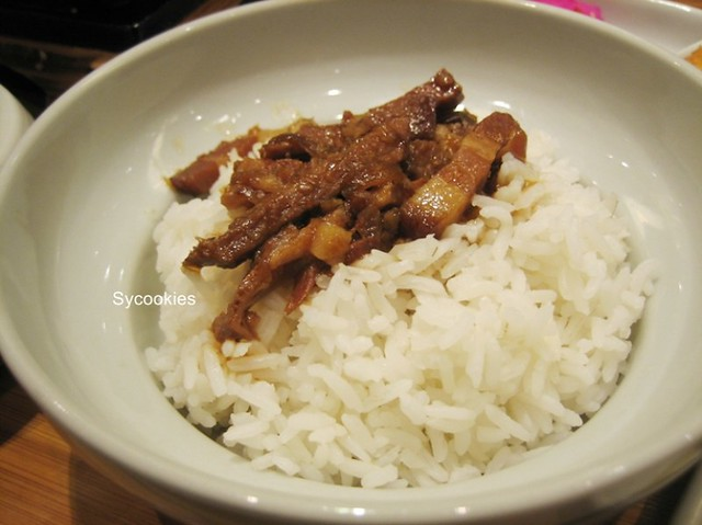 27.white rice with minced pork @ fong lye