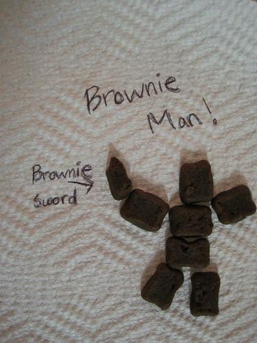 Special K Fudge Brownie Bites Brownie Man