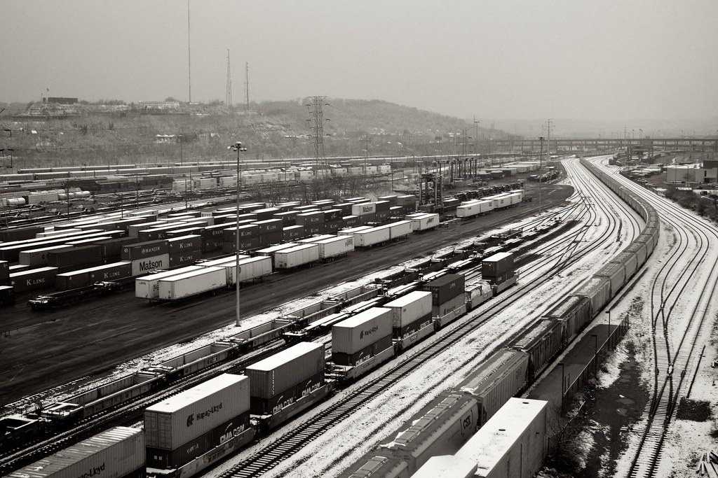 Rail yard, Cincinnati Ohio