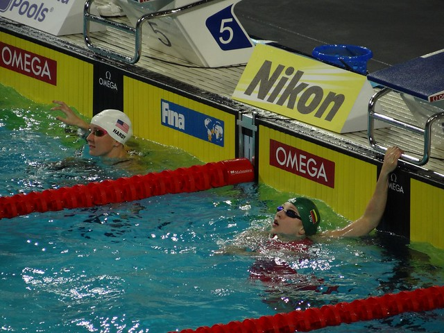 Hardy and Meilutyte at the Istanbul 2012 World Champs