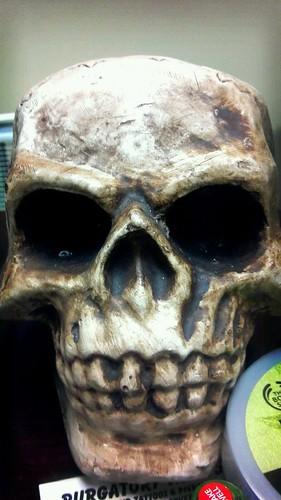 Boris the Office Skull by Morgaine Fey