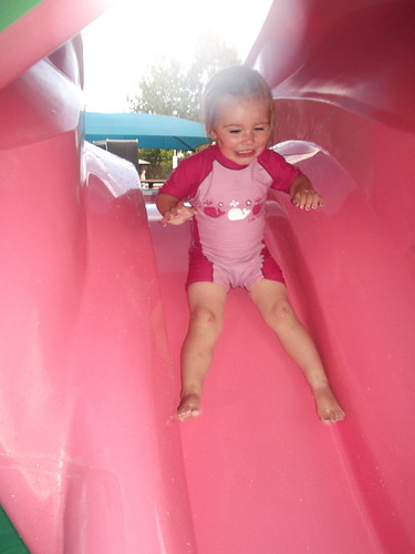 Down the slide!