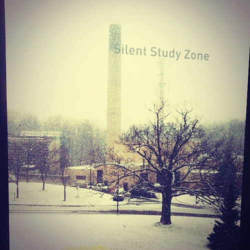 "Yet another #utmlibrary #utm #universityoftoronto shot. And yes...that ""silent study zone"" script does absolutely nothing >_<"