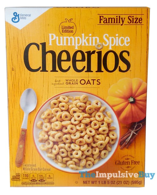 Limited Edition Pumpkin Spice Cheerios Cereal