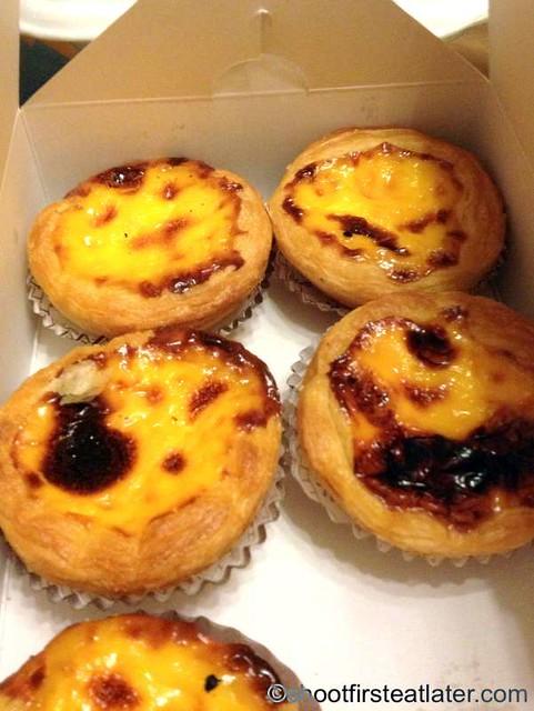 Portugese egg tarts from Macau restaurant