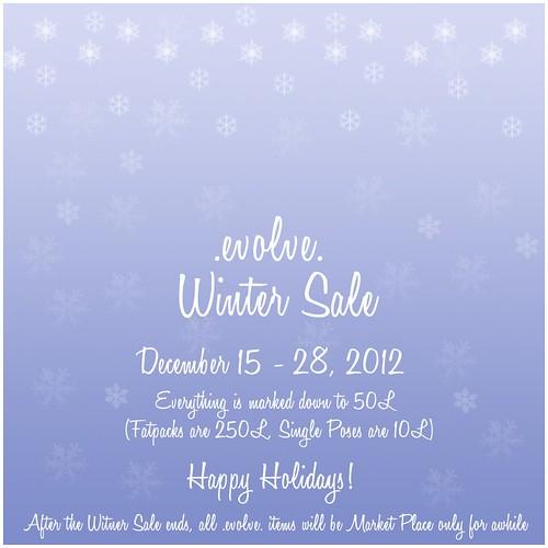 .evolve. Winter Sale