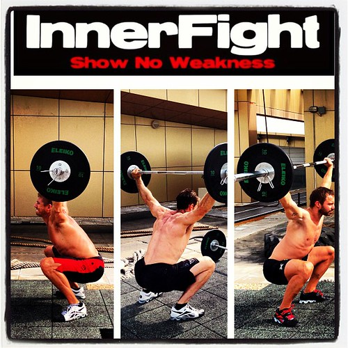 Back in business today with the boys. 100 OHS finisher. #teaminnerfight #bringit #squat #train #live #enjoy