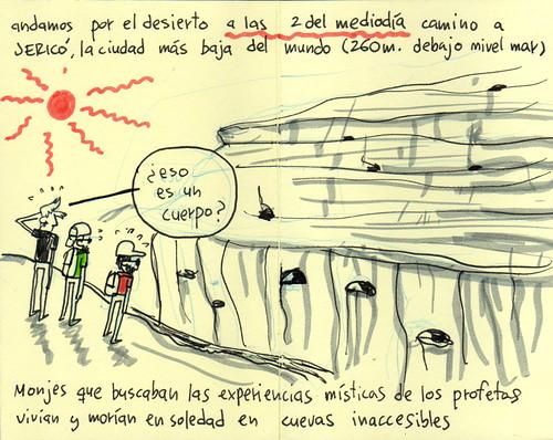 Wedi Qelt valley. Cuaderno de viaje ilustrado. Travel Sketchbook Palestine #12