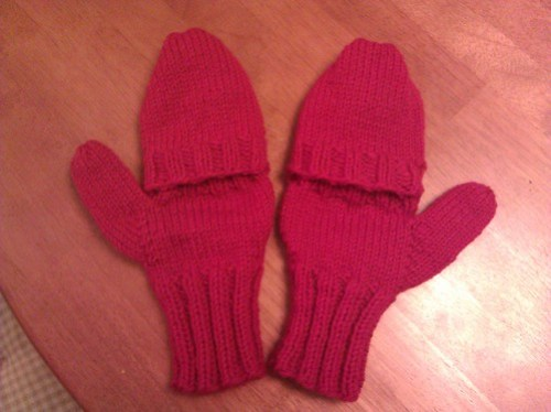 red convertible mittens