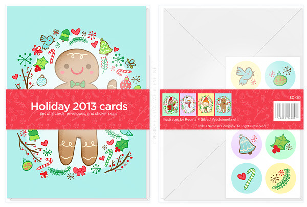Holiday cards mockup