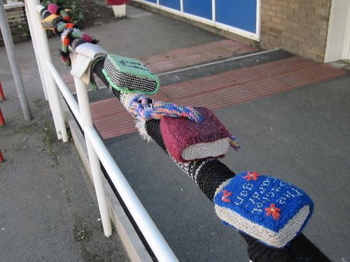 Saltburn Library Yarnbombing