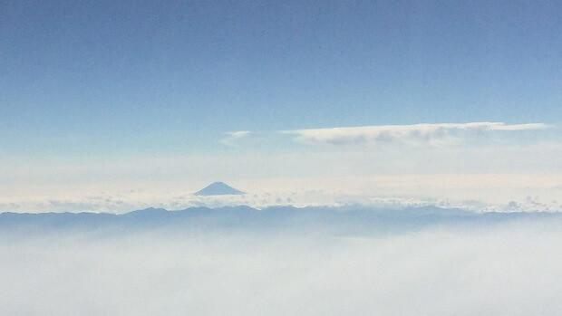 160912 飛行機から見る富士山