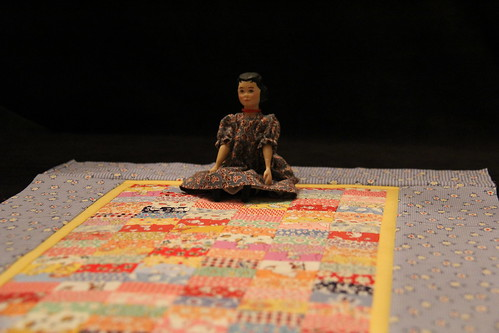 Hitty with quilt