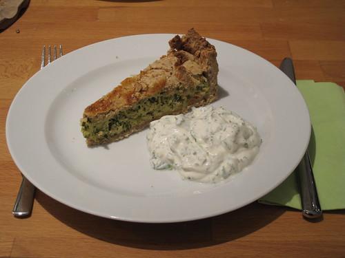 Zucchini-Pastete (2. Tag) und Joghurtdip