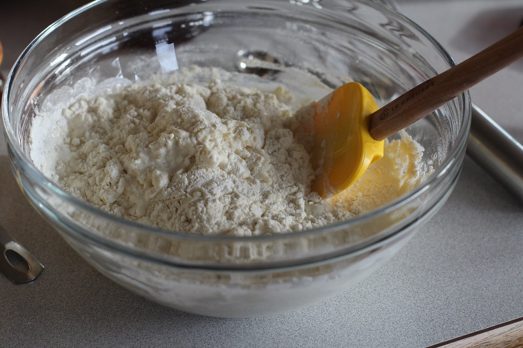 cream, flour, baking powder