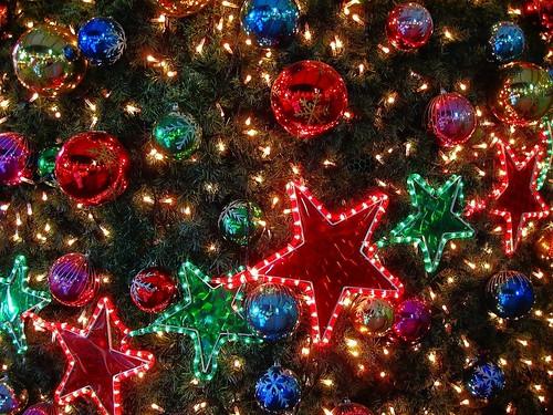 Гирлянды, елка, огни, игрушки, шары, звезды by setyelina