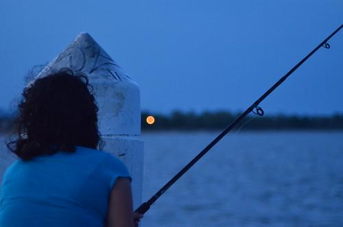 fishing jetty cardwell girl