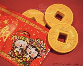 "Chinese New Year Red Packet with ""Cookie Gold Coins"" ©Cookievonster2013"