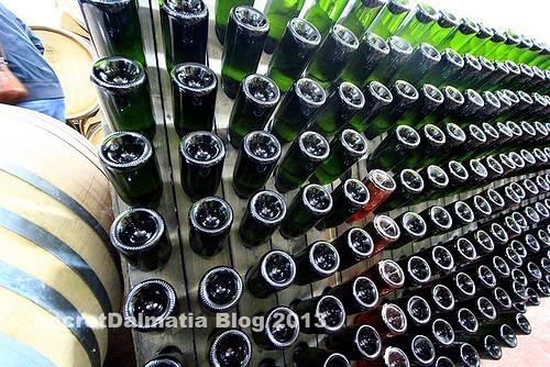 Grabovac sparkling wine - still on the rack