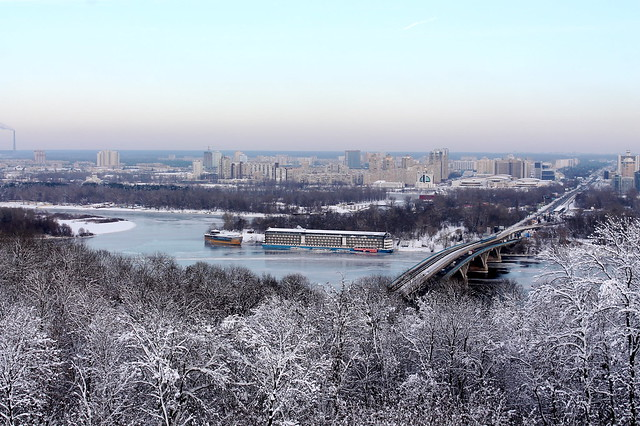 Bridge across Dnepr