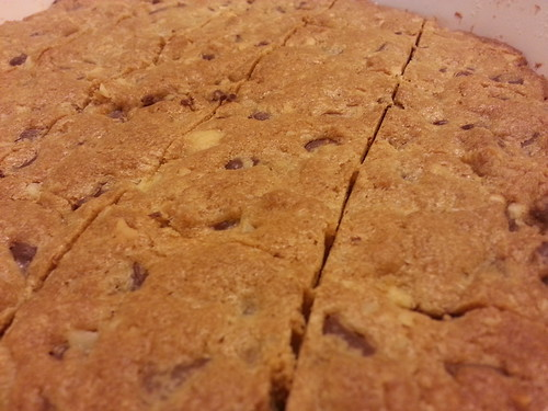 Chocolate macadamia nut bars by pipsyq