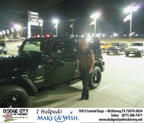 CONGRATULATIONS TO PATRICIA A KNOUSE  ON THE 2012 JEEP Wrangler by Dodge City McKinney Texas