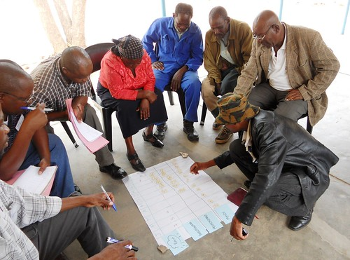 Participatory epidemiology training session for animal health workers in Botswana