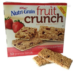 Kellogg's Nutri-Grain Strawberry Parfait Fruit Crunch Granola Bars