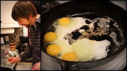 20130209. Beaker's first egg.