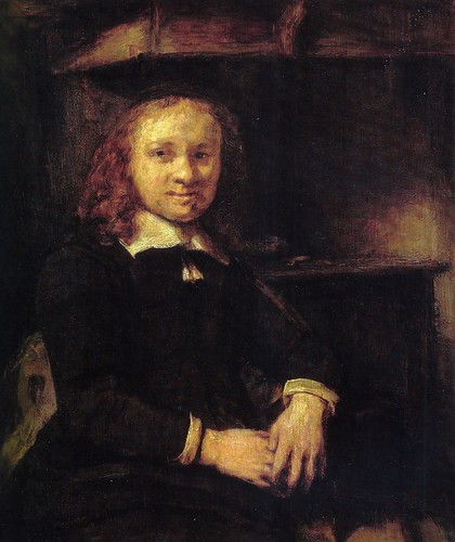 Rembrandt van Rijn - Jan Boursse seated in front of a Stove, 1666 at Oskar Reinhart Art Collection Winterthur Switzerland by mbell1975