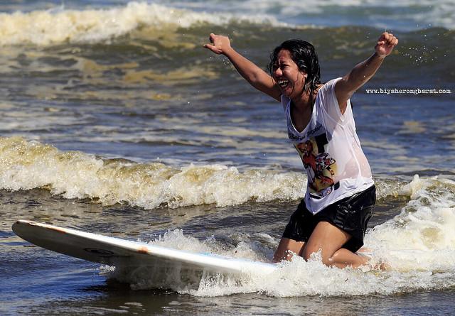 Surfing in Bagasbas Beach Daet Camarines Norte
