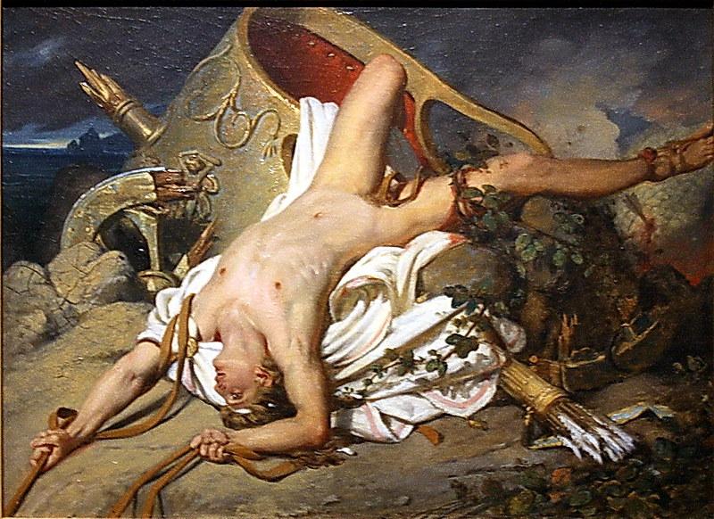 Viena-Wien. Leopold Museum. Exposició temporal Nackte Männer. Joseph-Désiré Court, La mort d'Hipòlit, 1828