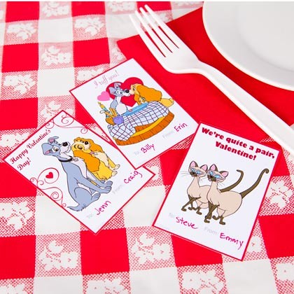 Lady and the Tramp Valentine's Cards