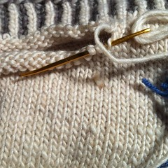 Brave knitting is grafting live stitches off the needles. #knitting