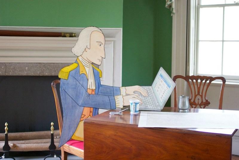 George Washington led a revolution before Facebook