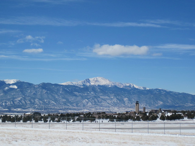 Pikes Peak from Peterson AFB, CO
