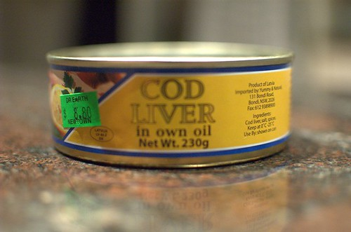 Cod liver in own oil