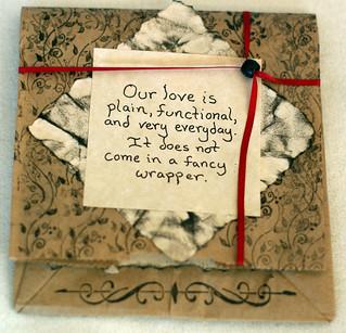 Paper bag valentine front