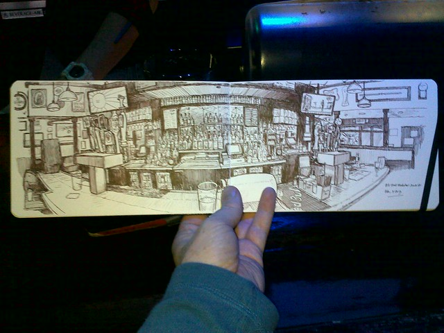sketching at wunderbar