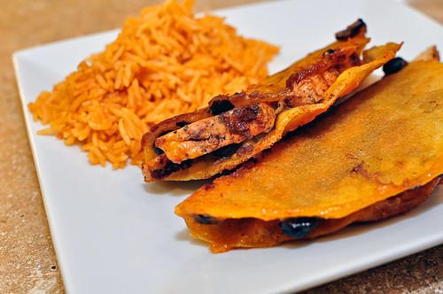 Crispy Chicken Black Bean Tacos