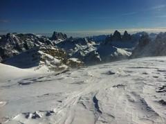 Hochebenkofel 2.905 m Blick auf die Drei Zinnen